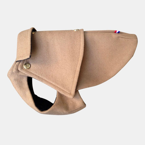 Luxury Dog Coat Camel Wool from Paris, France