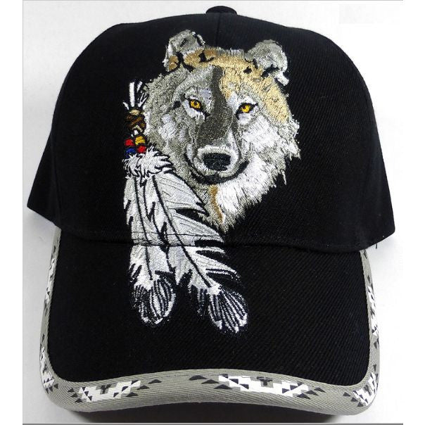 Native Pride Baseball Cap Wolf and Paw