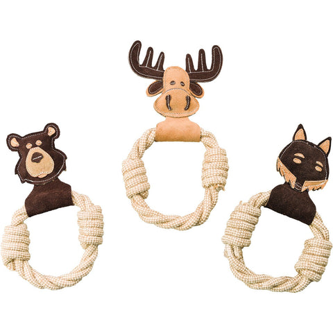 DURA-FUSE Leather Toy with Rope Ring
