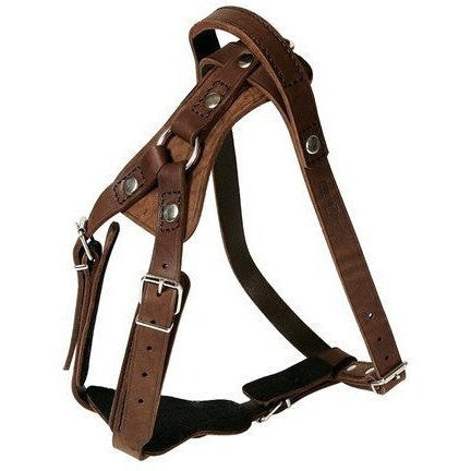 KLIN Leather Agitation Work Harness with handle, riveted