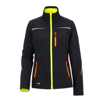 Soft Shell Jacket for Dog Handlers Black/Neon (Women)