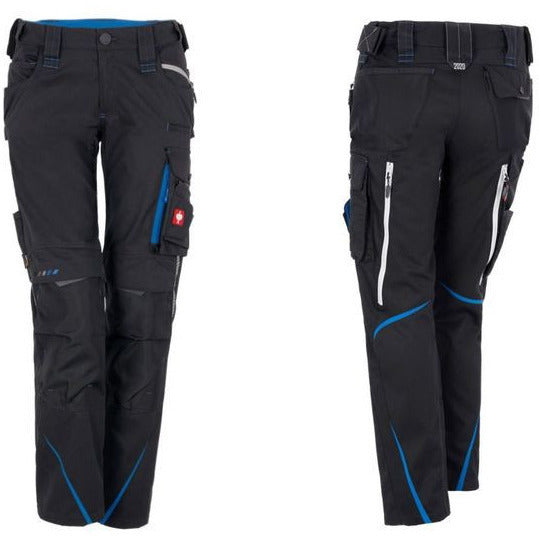 Work Pants for Dog Handlers (Women) Charcoal/Aquablue