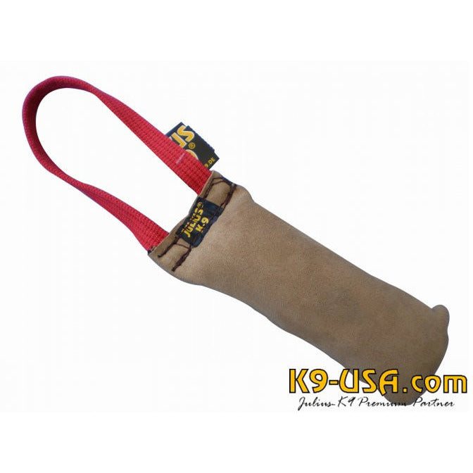 JULIUS K9 Padded Leather Tug with handle