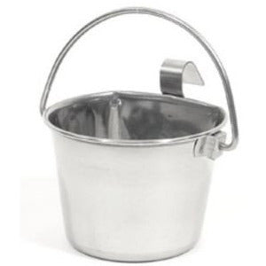 Stainless Steel Flat Sided Pail with hook(s)