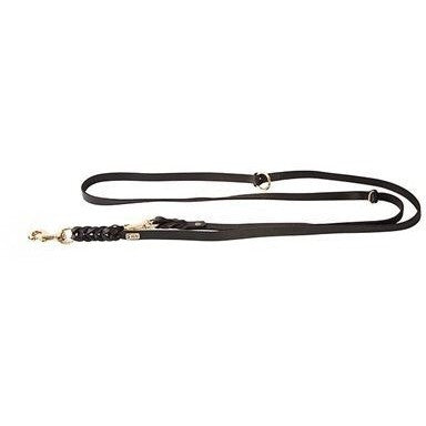 KLIN Soft Leather Leash, adjustable, German hunter style, 15mm