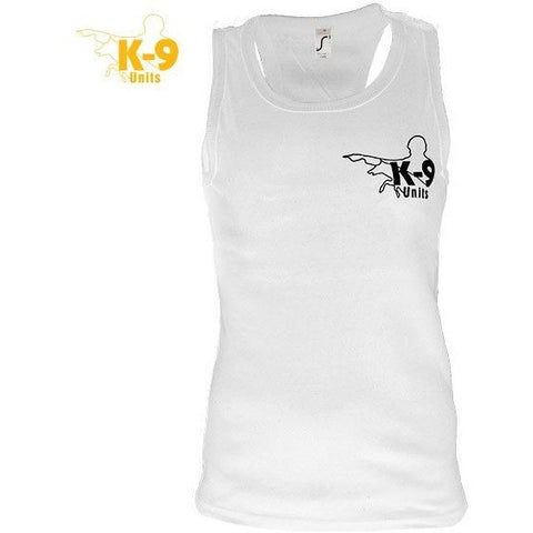 JULIUS K9 K-9 UNITS Sleeveless Shirt for Men white