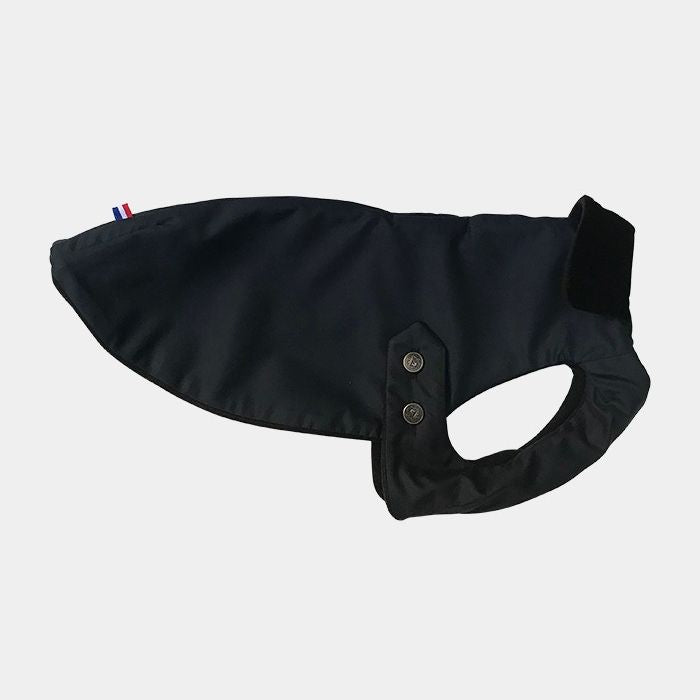 Luxury Dog Coat Navy Waterproof Silk from Paris, France