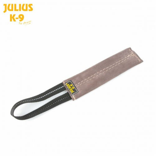 JULIUS K9 Flat Leather Tug with handle