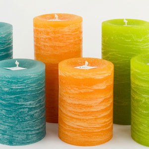 Rustic pillar candle collection by Nordic Candle