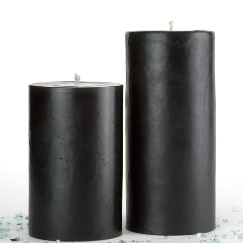 Black pillar candle with a matte surface by Nordic Candle image2