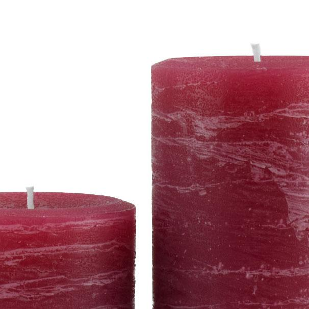 3 x 6 Hand Poured Solid Color Unscented Pillar Candles Set of 3 Made in USA Lavender