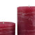 Burgundy Red Pillar Candle | Dark Maroon Rustic