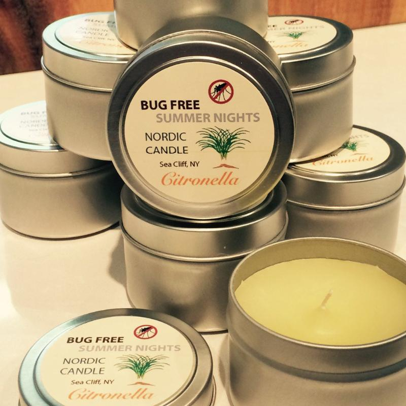 Bug Free Summer Nights Citronella Candles - 4 oz tin