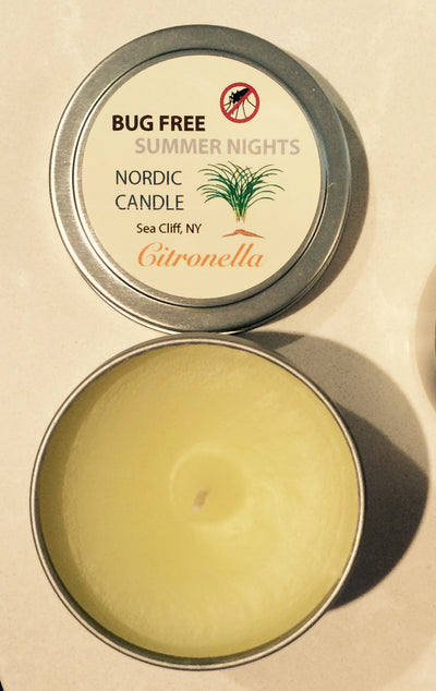 Open Bug Free Summer Nights Citronella Candle - 4 oz tin