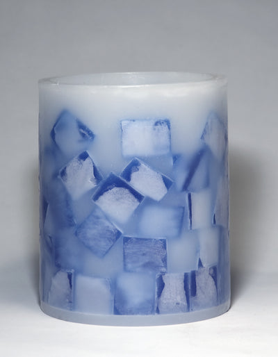 blue lantern with mosaic design by Nordic Candle image2
