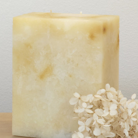 Marbled Pillar Candle with 2 Wicks