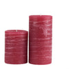 Burgundy Red Pillar Candle Dark Maroon Rustic 3x4 3x6 39 4x6 4x9 by Nordic Candle Image2