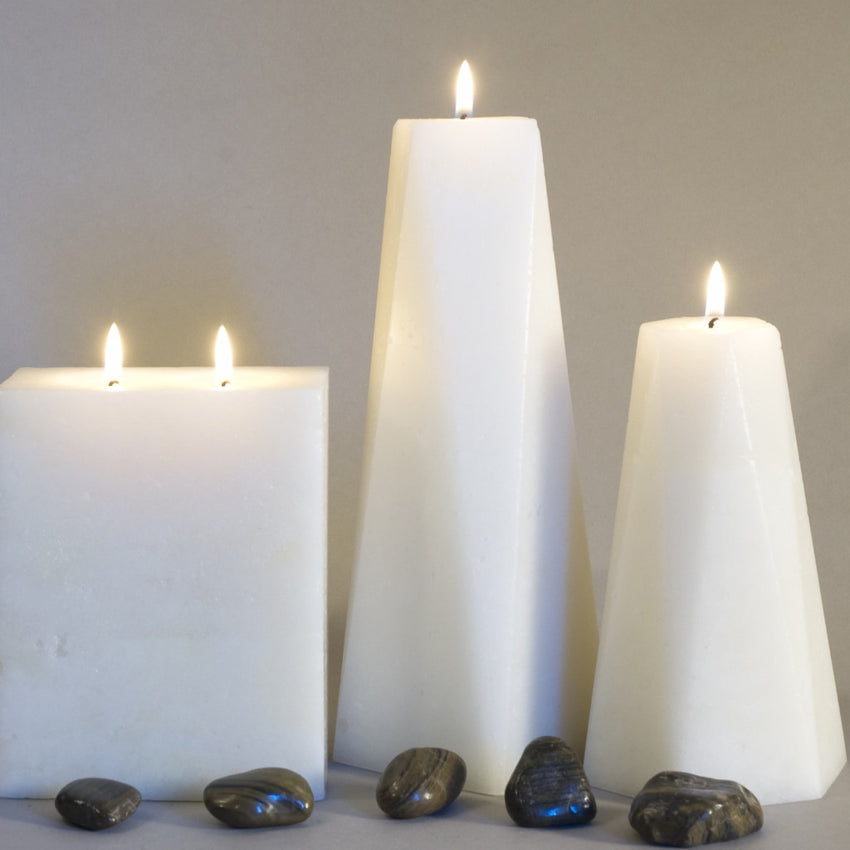 Set of Three Candles - Hexagon, Octagon and Two Wick Rectangle