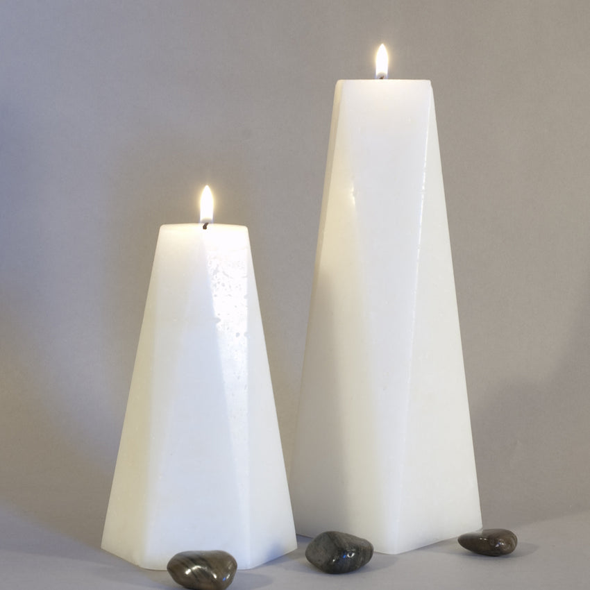 Set of Two Candles - Hexagon and Octagon Pair of Pillars by Nordic Candle