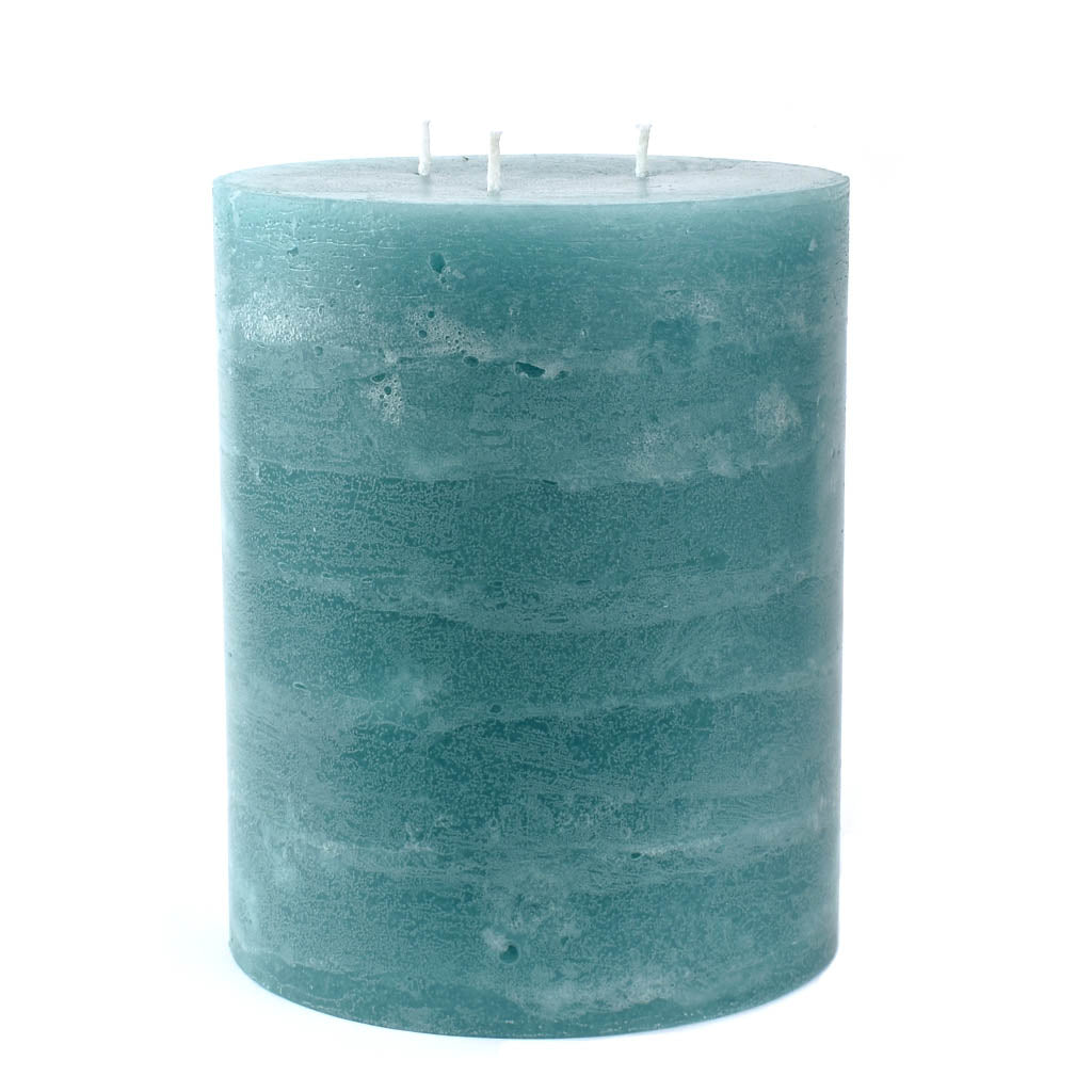 Teal 3 Wick Pillar Candle | Large 5x6""