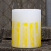 yellow lantern with mosaic design by Nordic Candle image1