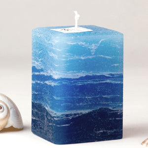 striped blue candle light blue to navy