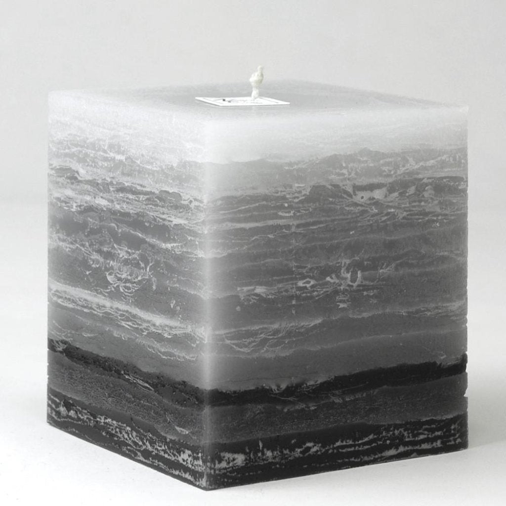 Shades of Gray  Pillar Candle | 4 inch square