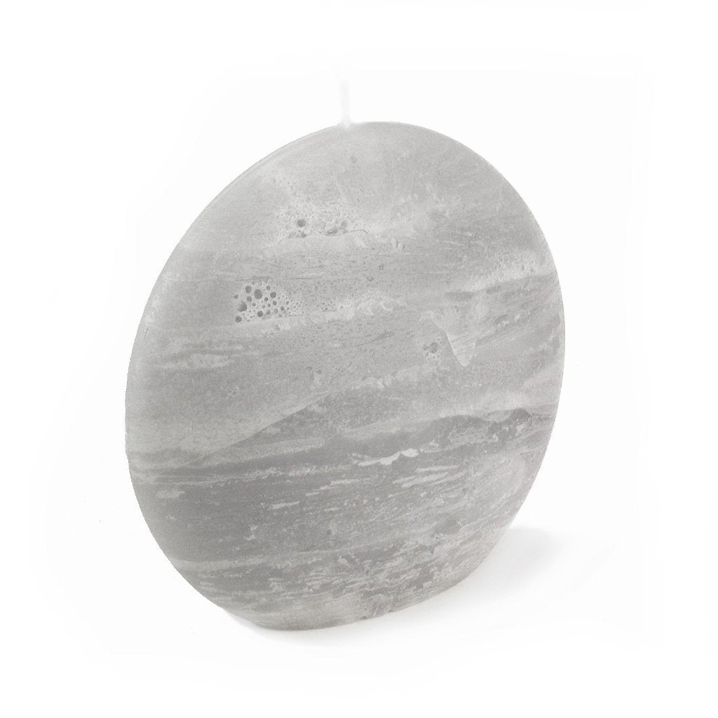 Gray Disc Candle | Large