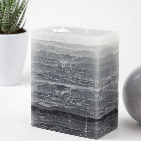 Shades of Gray - Two Wick Pillar Candle