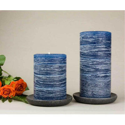 "navy blue pillar candles 3x4"" and 3x6"" Midnight Blue Dark Blue by Nordic Candle - img3"