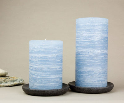 "blue pillar candles 3x4"" and 3x6"" Light Blue by Nordic Candle"