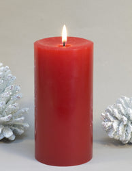 red pillar candle 3x6 inches by Nordic Candle