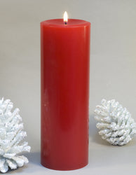 red pillar candle 3x9 inches by Nordic Candle