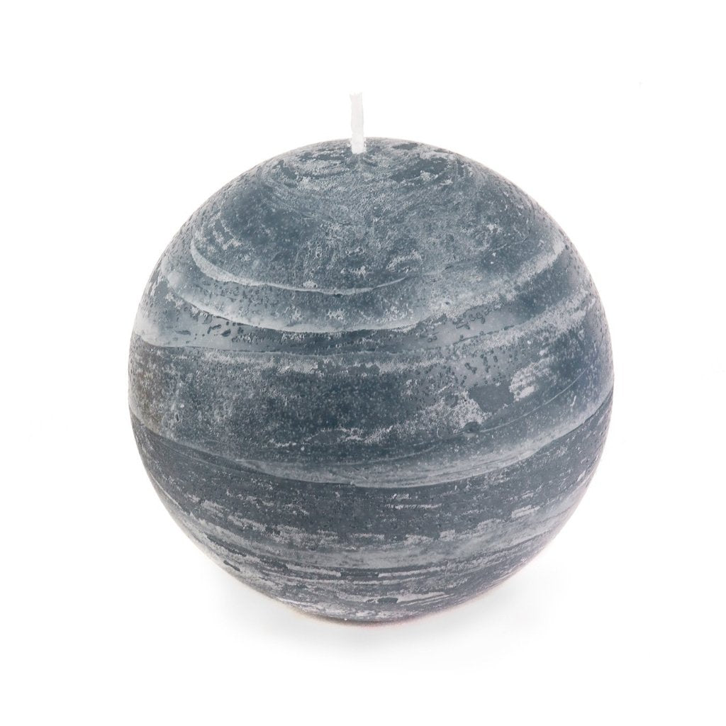 Slate Blue Ball Candle | Large 4""