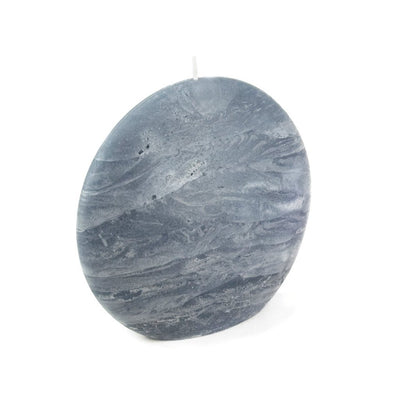 blue gray disc pillar candle slate rustic surface by Nordic Candle img1