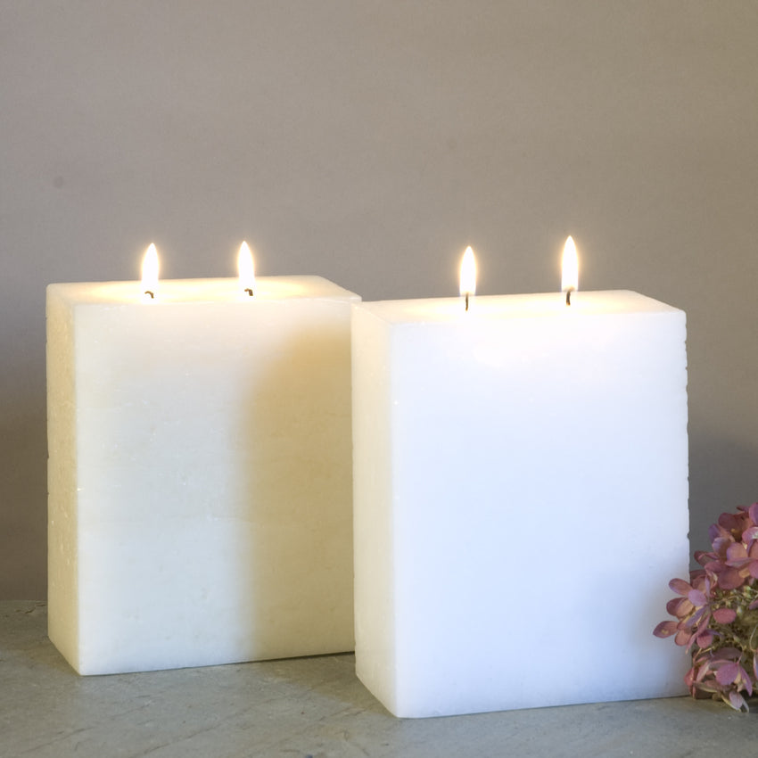 Ivory and White Two Wick candle by Nordic Candle
