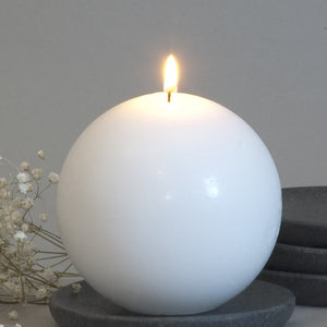 White Ball Candle 4