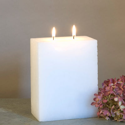 2 Wick Rectangular Pillar Candle