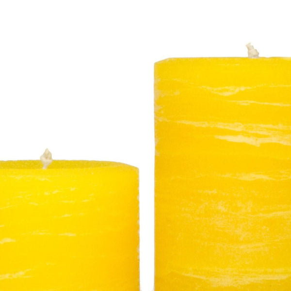 Yellow Rustic Pillar Candle | Various Sizes | Nordic Candle