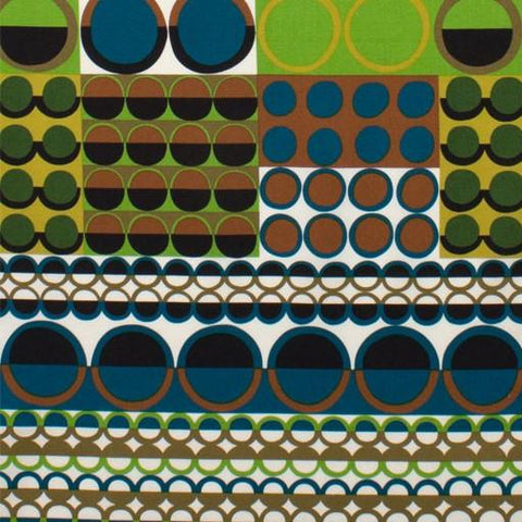 Fabric Alexander Henry Fabrics Africa by Alexander Henry - Johari in Blue and Lime
