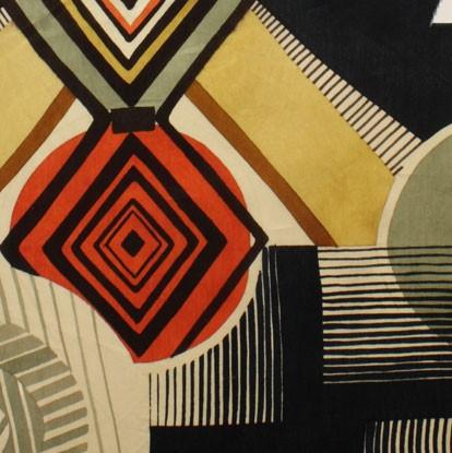 Fabric Alexander Henry Fabrics Africa by Alexander Henry - Mwamba Abstract in Black and Gold
