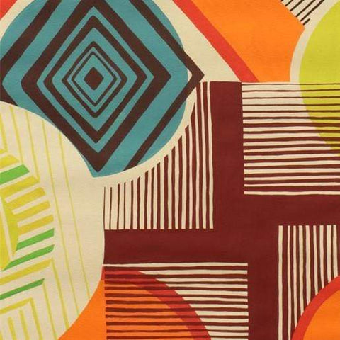 Fabric Alexander Henry Fabrics Africa by Alexander Henry - Mwamba Abstract in Tangerine and Chocolate