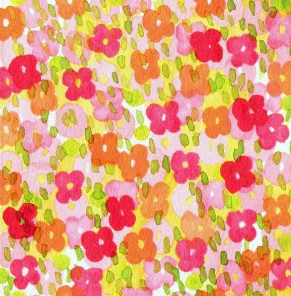 Fabric Alexander Henry Fabrics Larkspur by Alexander Henry - Vivie Bloom in Citrus