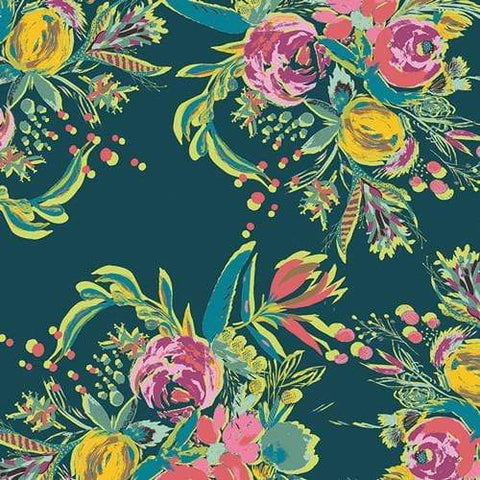 Fabric Art Gallery Fabrics Joie de Vivre by Bari J - Coquet Bouquet
