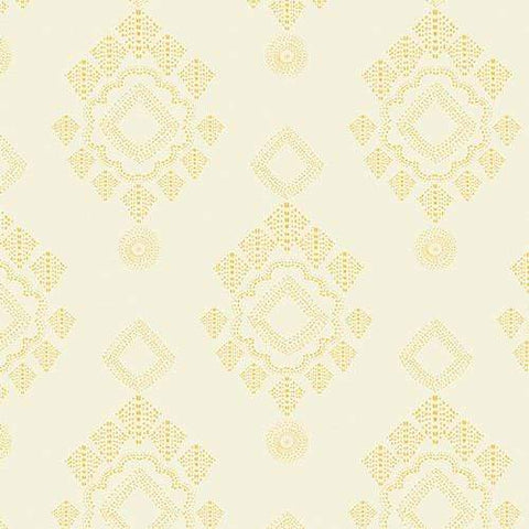 Fabric Art Gallery Fabrics Joie de Vivre by Bari J - Stitched Diamant Zest