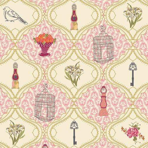 Fabric Art Gallery Fabrics LillyBelle by Bari J - French Sampler Rose
