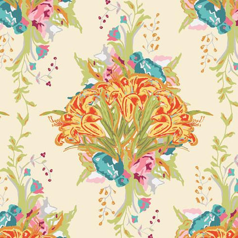 Fabric Art Gallery Fabrics LillyBelle by Bari J - Lilly Bouquet Light