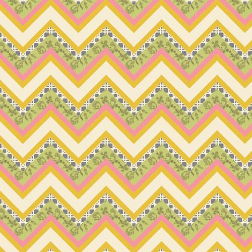 Fabric Art Gallery Fabrics LillyBelle by Bari J - Vintage Fence Honey