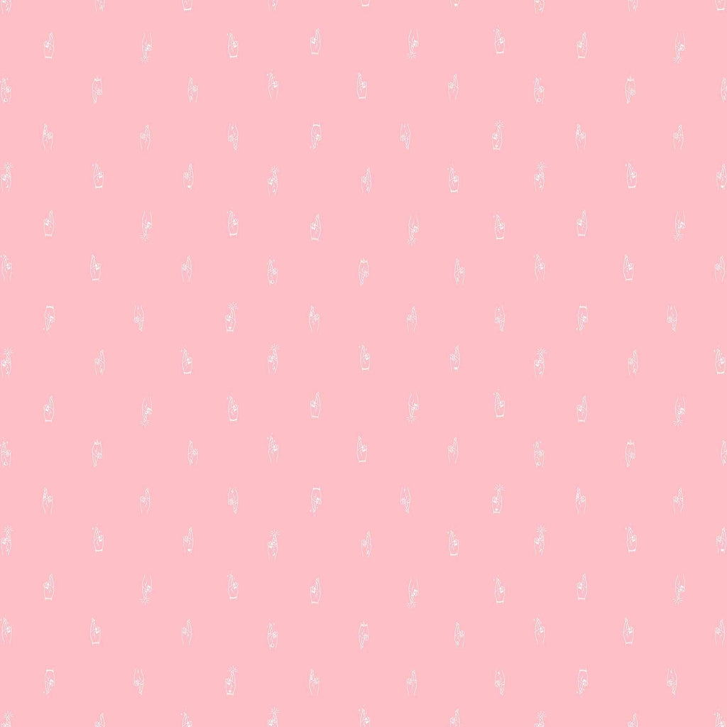 Fabric Figo Fabrics Lucky Charms Basics - Fingers Crossed in Pink