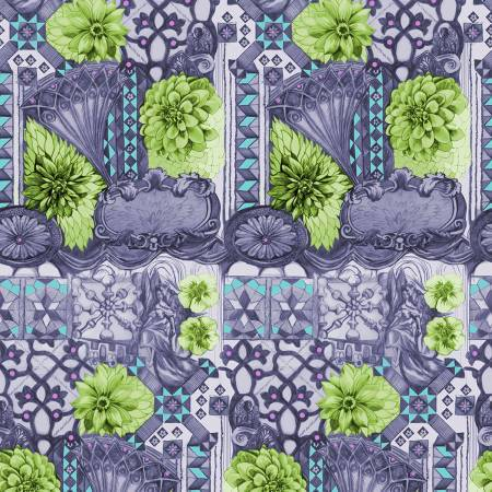 Fabric Free Spirit English Summer by Anna Maria Horner - Tourist in Peridot